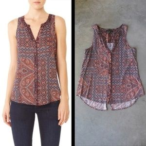 Sanctuary Patchwork Paisley Tank size medium